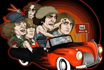 AC/DC  cartoon