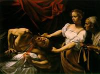 Caravaggio  (painting is called Judith Beheading Holofernes)