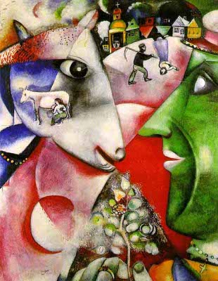 Marc Chagall (painting is called 'I And The Village')