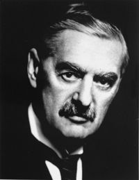 British [Neville  Chamberlain – he was UK Prime Minister at the outbreak of war]
