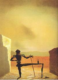 Salvador Dali - (The ghost of Vermeer of delft which can be used as  a table)