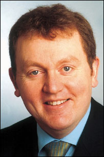He's a Tory  [Scotland's only Tory: David Mundell represents– Dumfriesshire, Clydesdale  and Tweedale]