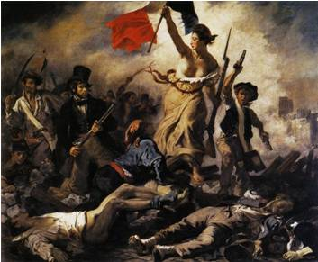 French  (the painting is Liberty Leading The People by Eugene Delacroix)