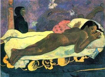 Paul Gauguin  (the spirit of the dead keeps watch)
