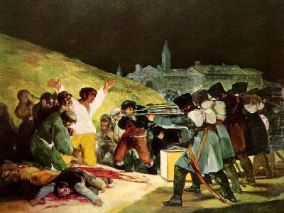Goya (painting is  called 3rd of May 1808)