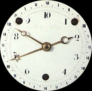 The French  Revolution (decimal time was adopted in 1793 but abolished again in 1795)