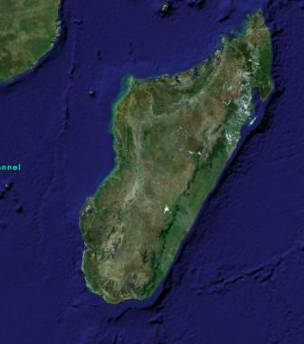 Madagascar  satellite view