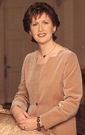 Mary McAleese – the  President of The Republic of Ireland