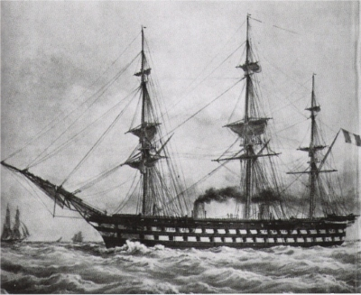 world's first steam battleship