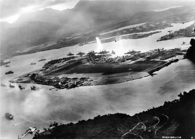 The bombing of  Pearl Harbour