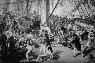 The Battle of Trafalgar (Lord Nelson has just been shot)